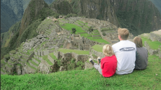 Family at Legendary Machu Picchu
