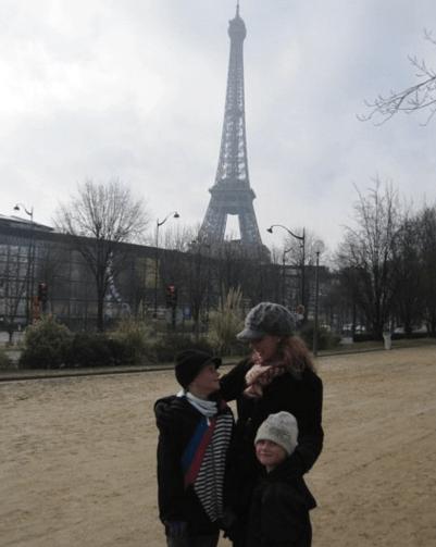 eiffel tower in paris with kids