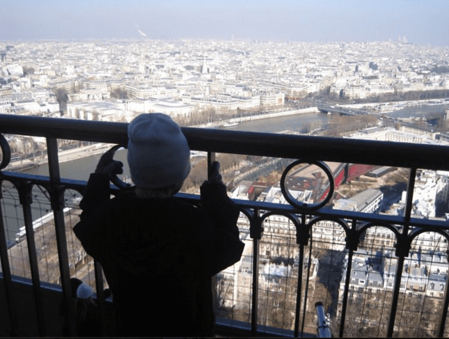 view from top of eiffel tower paris