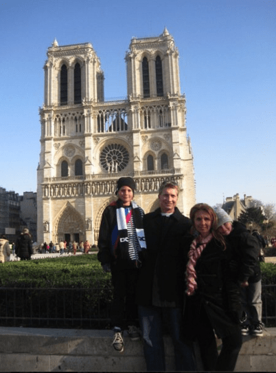 family travel to paris - notre dame cathedral