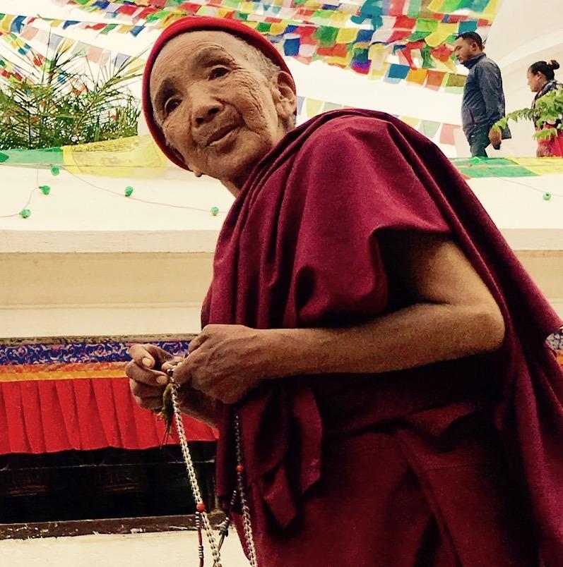 traveling to Nepal with kids - kathmandu buddhist monks