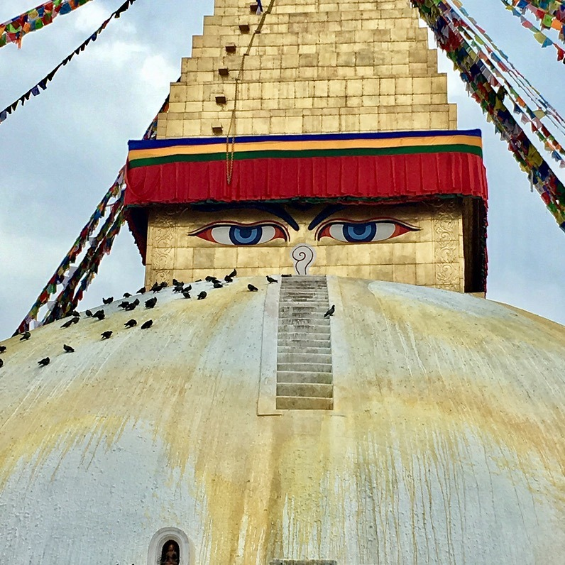 traveling to Nepal with kids - kathmandu stupa