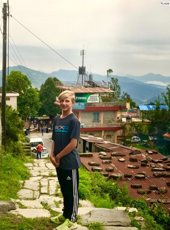 travel to pokhara nepal with kids sarangkot sunrise raining