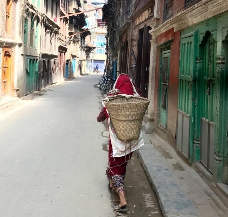 traveling to Nepal with kids - kathmandu street life