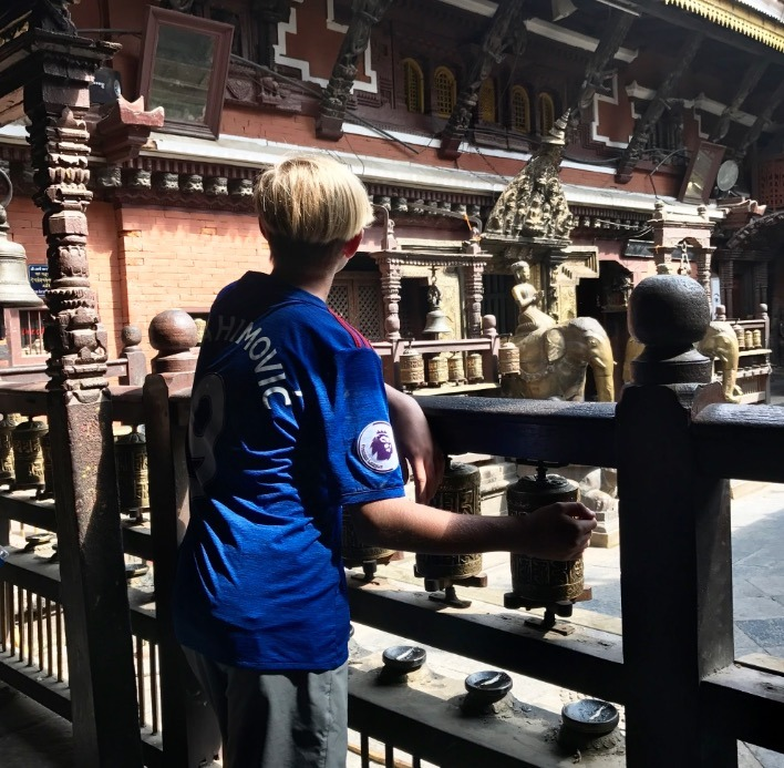 traveling to Nepal with kids in Kathmandu
