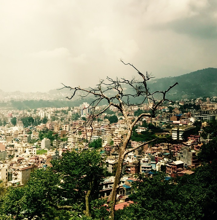 traveling to Nepal with kids - kathmandu views