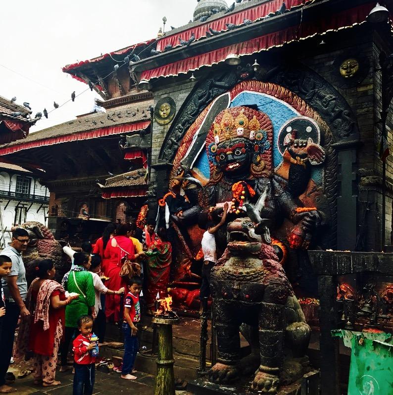 traveling to Nepal with kids - kathmandu stupa