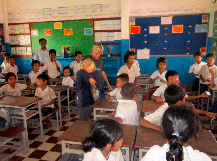 visit cambodian children