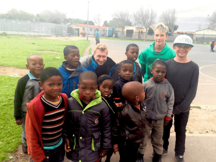 Yet another pick up soccer game in the Langa township in South Africa