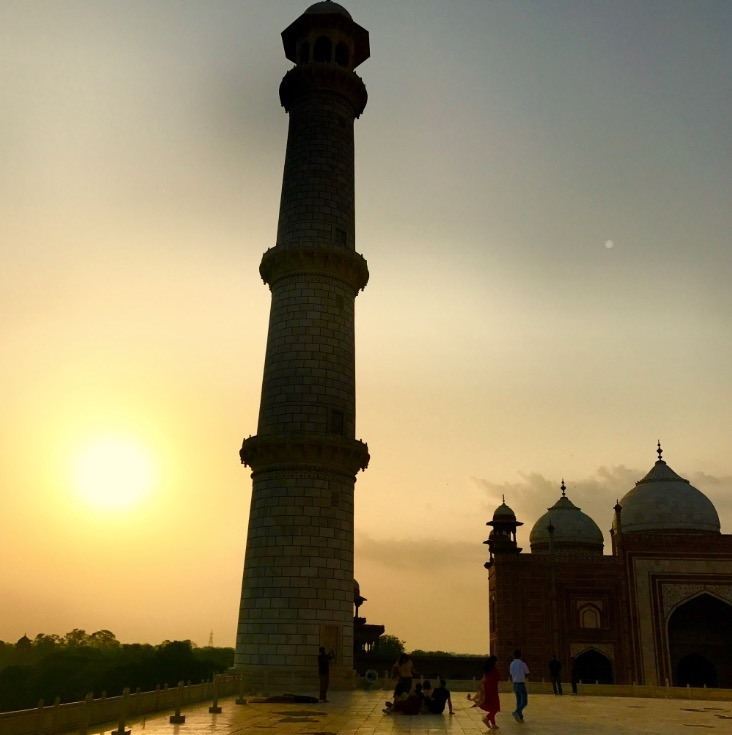 visiting taj mahal, Agra, India sunrise