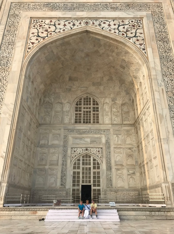 visiting taj mahal, Agra, India doors