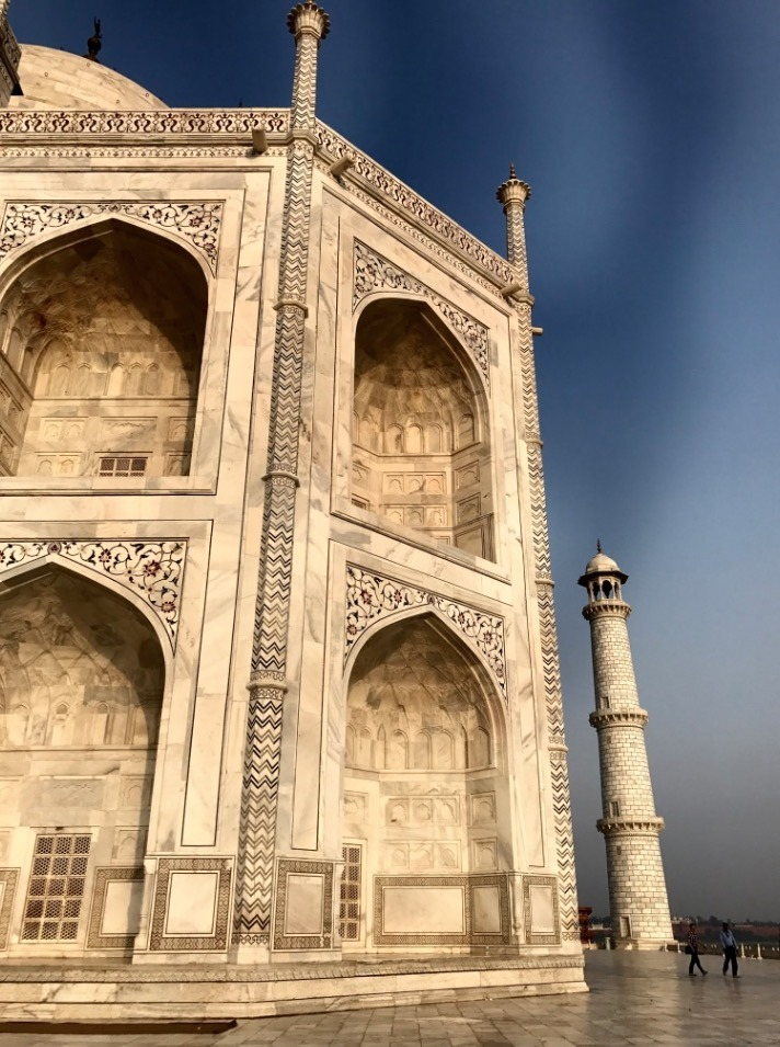 visiting taj mahal, Agra, India