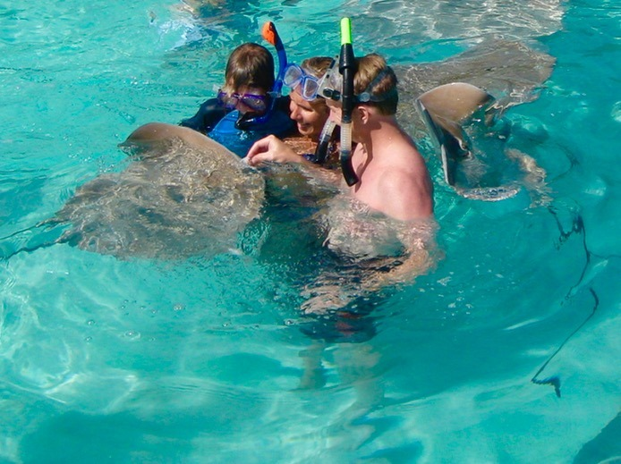 you should go swimming with sharks Moorea tahiti with kids