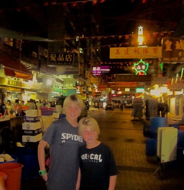 Hong Kong with kids temple street night markets