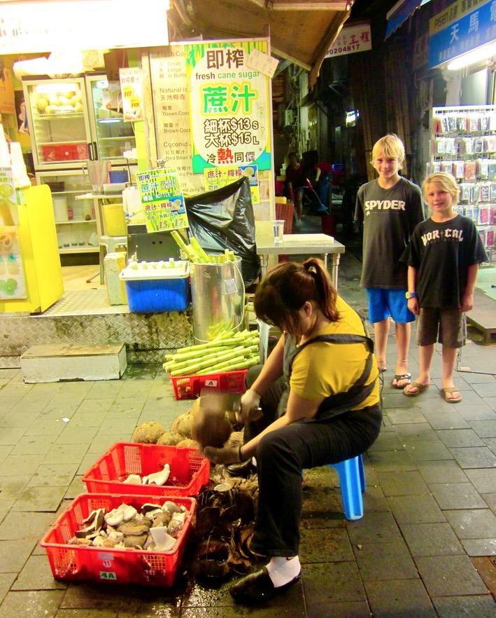 Hong Kong with kids shopping