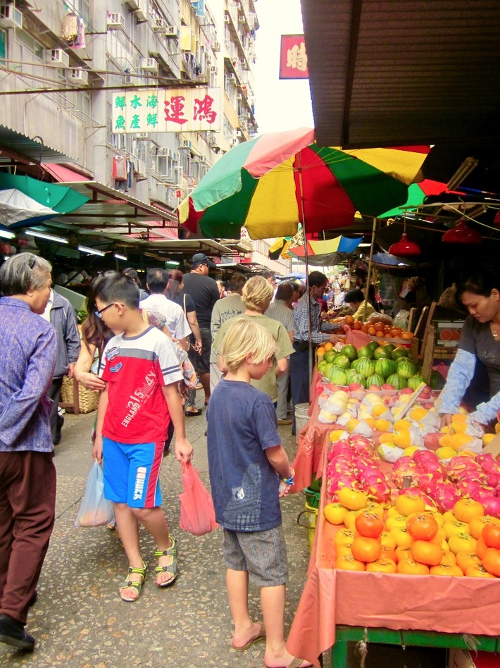 Hong Kong with kids markets