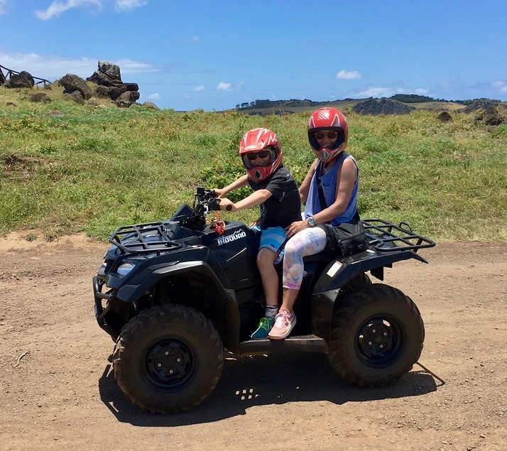 visiting the moai statues on easter island atv around the island