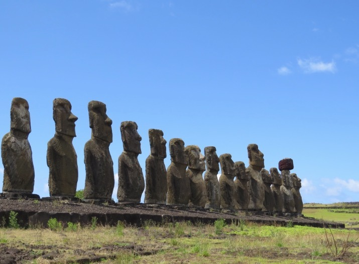 visiting the moai statues on easter island fun