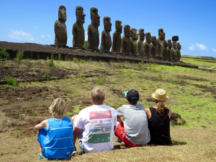 Travel to Easter Island with Kids to see the Amazing Moai statutes