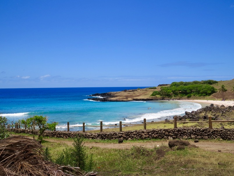 beaches visiting the moai statues on easter island anakena