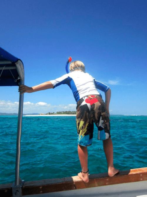 snorkle trips Tavarua Island resort FIji