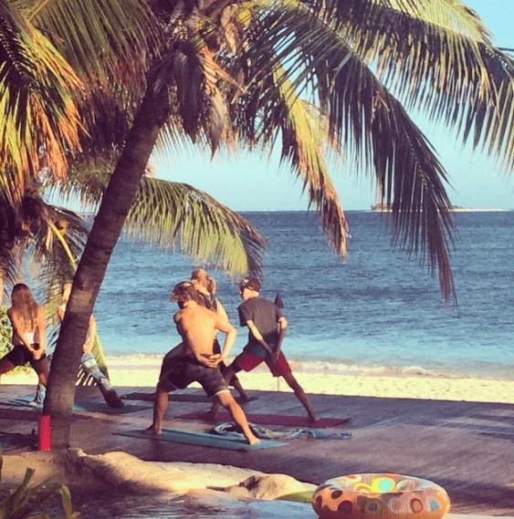 Tavarua Island resort FIji yoga