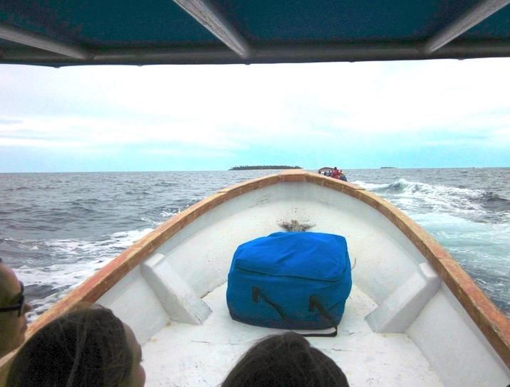 Tavarua Island resort FIji boats