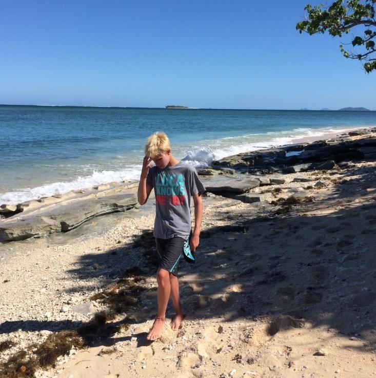 Tavarua Island resort FIji pddling