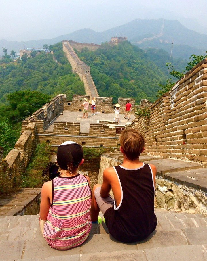 great wall of china with kids