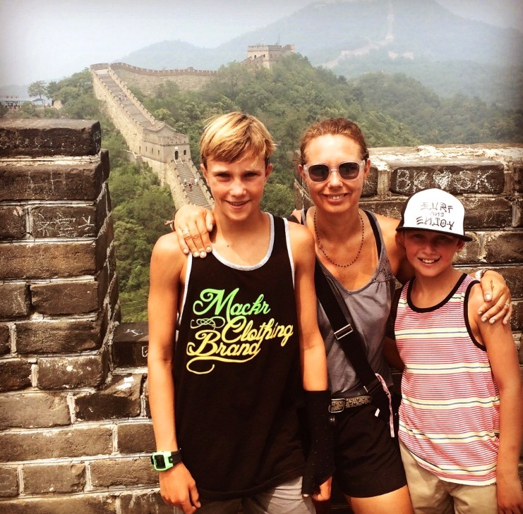 great wall of china beijing china with kids