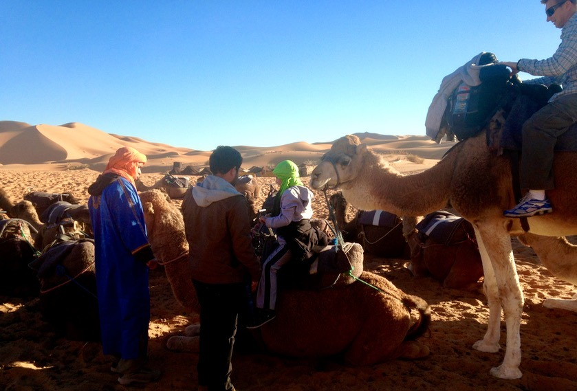 camping in the sahara desert, Morocco with kids