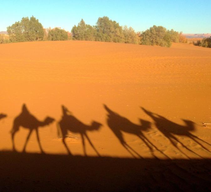 sahara desert, Morocco shadows