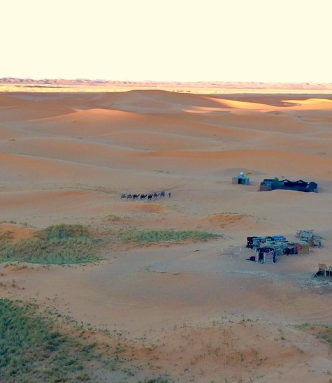 camp site in the sahara desert, Morocco