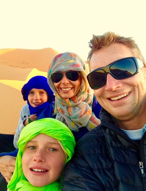 sahara desert, Morocco sunset with family