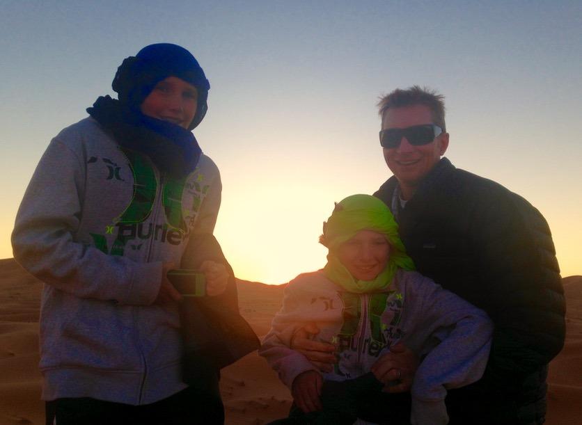 sahara desert, Morocco sunset campsite