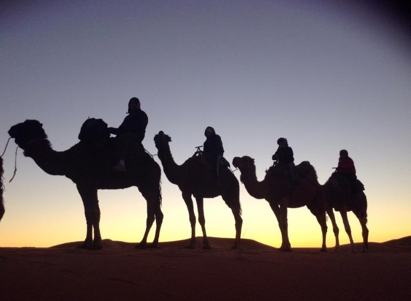 sahara desert, Morocco sunrise