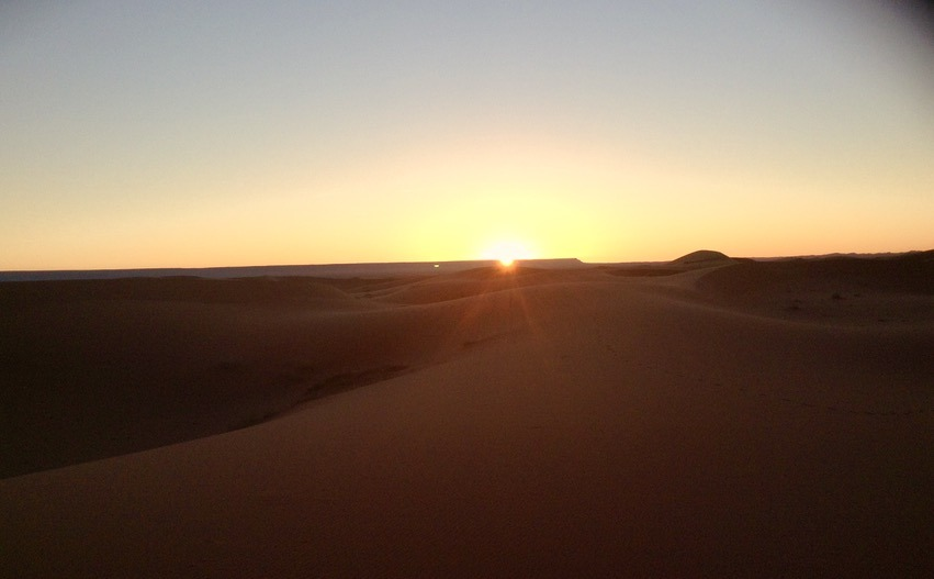 morning sunrise sahara desert, Morocco