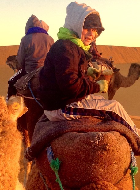 sahara desert, Morocco freezing cold camel ride