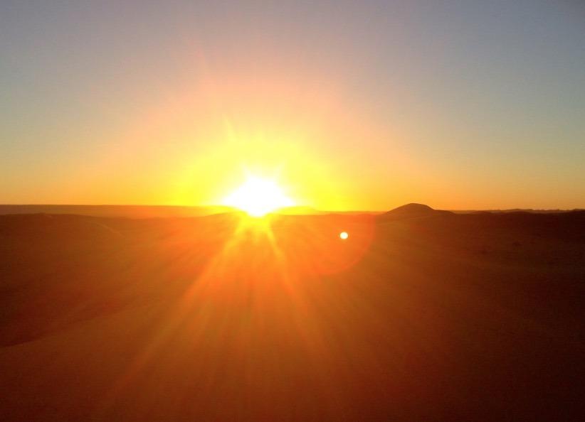 mornig sunrise sahara desert, Morocco