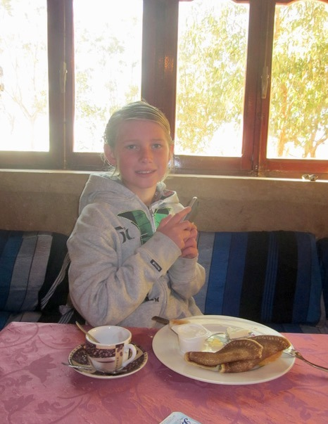 sahara desert, Morocco warm again for breakfast in merzouga