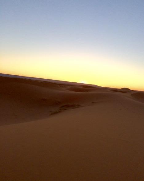 sunrise sahara desert, Morocco
