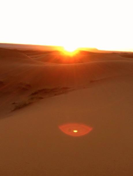 sahara desert, Morocco merzouga campsite sunrise