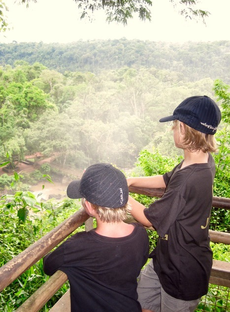Iguazu Falls in Brazil and Argentina with kids