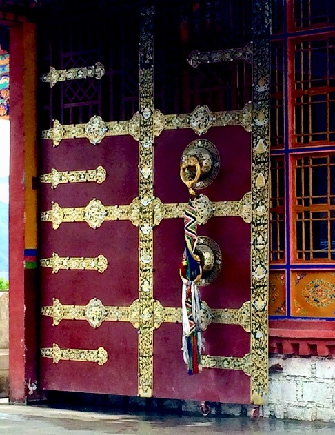 Lhasa Tibet Drepung Monastery with kids art