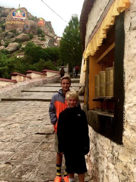 Lhasa Tibet Drepung Monastery with kids