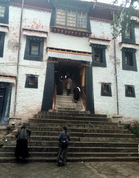Lhasa Tibet sera monastery with kids