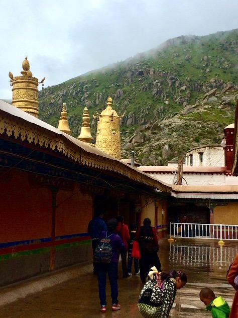 Travel to Lhasa Tibet Drepung Monastery with kids
