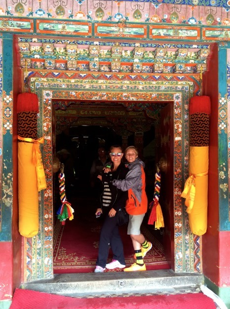Lhasa Tibet Drepung Monastery with kids and mom