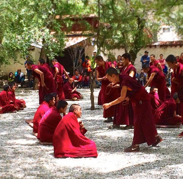 Lhasa Tibet sera monastery monks