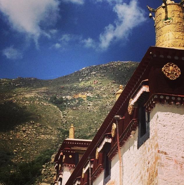 Lhasa Tibet Potala Palace with children